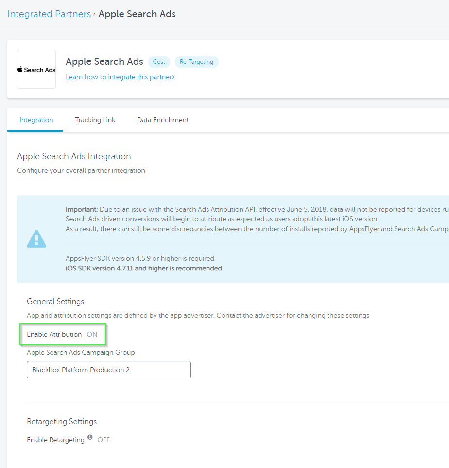 Apple Search Ads configuration – Help Center