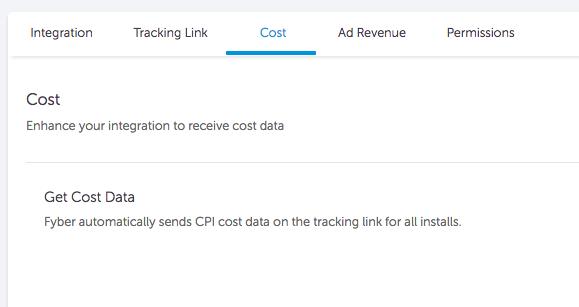 fyber cost settings